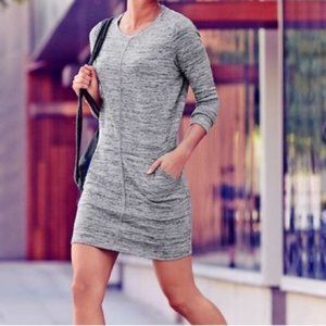 ATHLETA Destiny Techie Heather Grey dress L